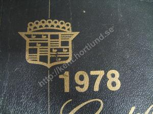 1978 Cadillac Service Manual supplement