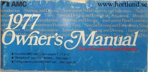 1977 AMC Owner's Manual