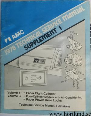 1978 AMC Pacer Technical Service Manual spplement 1