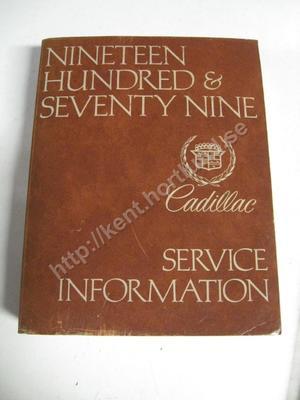 1979 Cadillac Service Information