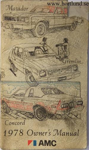 1978 AMC Owner's Manual