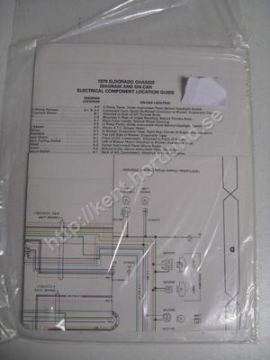 1979 Cadillac Eldorado chassis diagram and on-car electrical component location guide