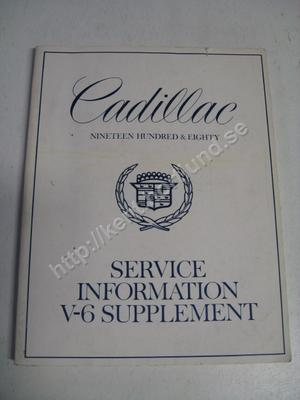 1980 Cadillac Service information V-6 supplement