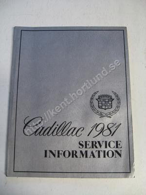1981 Cadillac Service information Electronic Climate Control