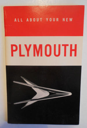 1957 Plymouth Owners Manual original
