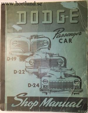 1941 - 1949 Dodge Shop Manual original
