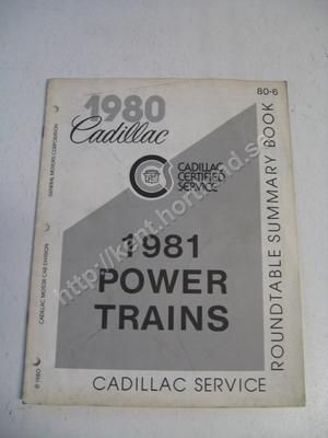 1981 Cadillac power trains
