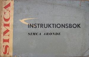 1961 Simca Aronde instruktionsbok svensk