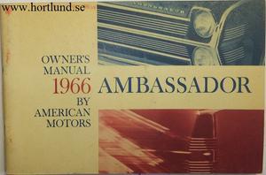 1966 AMC Ambassador Owner's Manual