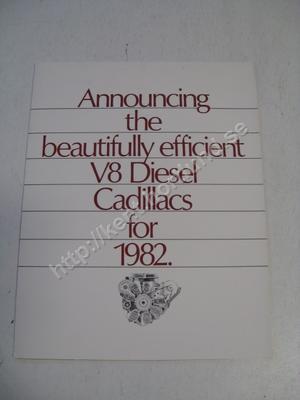 1982 Cadillac Försäljningsbroschyr