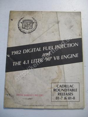 1982 Cadillac Digital fuel injection and the 4.1 liter 90deg v8 engine