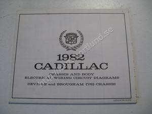 1982 Cadillac Chassis and body electrical wiring circuit diagrams