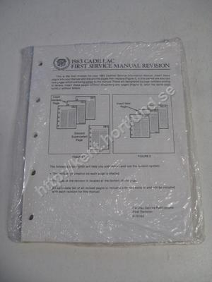 1983 Cadillac first service manual revision