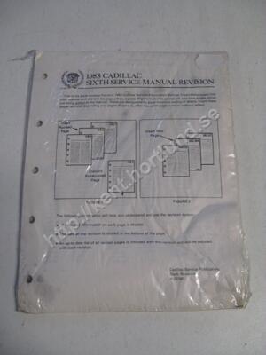 1983 Cadillac Sixth service manual revision