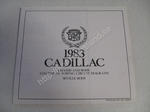 1983 Cadillac Seville Chassis and body electrical wiring circuit diagrams