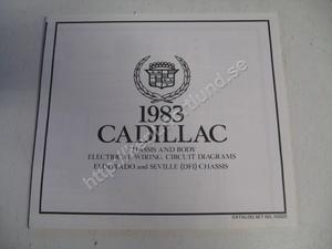 1983 Cadillac Eldorado and Seville (DFI) Chassis and body electrical wiring circuit diagrams