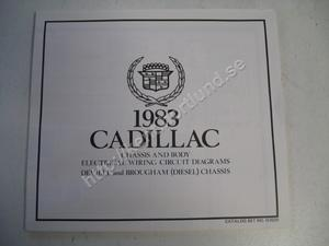 1983  Cadillac Deville and Brougham (Diesel) Chassis and body electrical wiring circuit diagrams