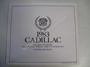 1983 Cadillac Eldorado Chassis and body electrical wiring circuit diagrams