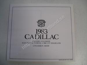 1983 Cadillac Cimarron Chassis and body electrical wiring circuit diagrams