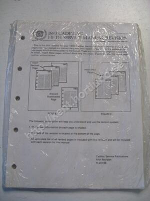 1983 Cadillac fifth service manual revision