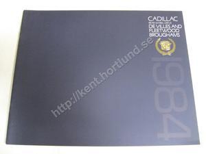 1984 Cadillac devilles fleetwoods broughams Brochure