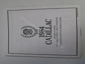 1984 Cadillac Chassis and body electrical wiring circuit diagrams