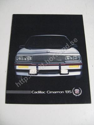 1985 Cadillac Cimarron Försäljningsbroschyr