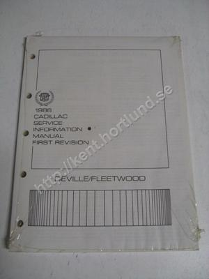 1986 Cadillac DeVille och Fleetwood service information manual first revision