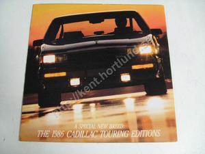 1986 Cadillac Försäljningsbroschyr