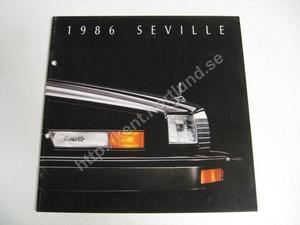 1986 Cadillac Seville Försäljningsbroschyr
