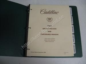 1987 Cadillac  service policies and procedures manual