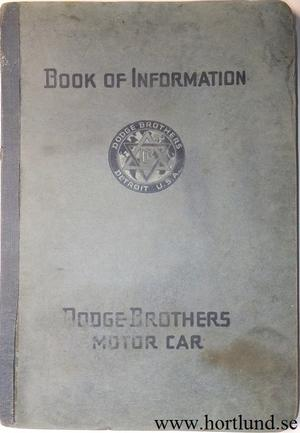1916 Dodge Book of Information