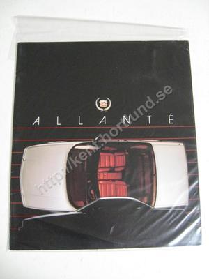 1987 Cadillac Försäljningsbroschyr