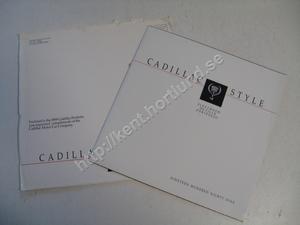 1989 Cadillac  Försäljningsbroschyr