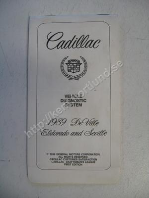 1989 Cadillac  Vehichle diagnosis system