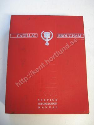 1990 Cadillac Brougham Service information manual