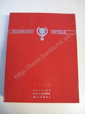 1990 Cadillac eldorado seville service information manual