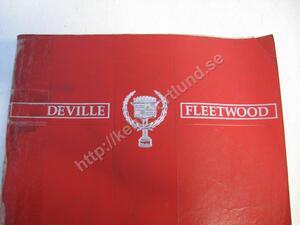 1990 Cadillac De Ville Fleetwood Service Information Manual