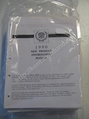1990 Cadillac deville fleetwood, eldorado, seville and allante new product information manual