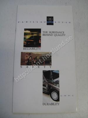 1991 Cadillac Försäljningsbroschyr