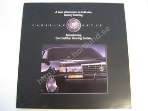 1991 Cadillac Touring Sedan Försäljningsbroschyr