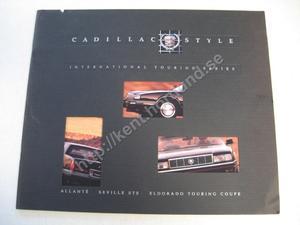 1991 Cadillac allante seville sts eldorado touring coupe Lyxbroschyr