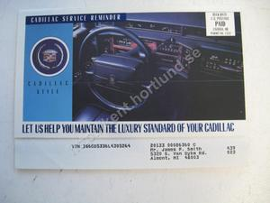 1992 Cadillac  Roadside service
