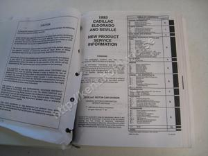 1993 Cadillac Eldorado Seville Preliminary service manual