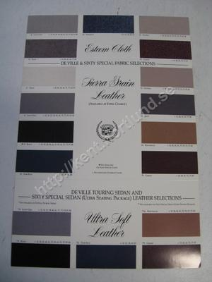 1993 Cadillac de Ville Touring Sedan and Sixty Special Sedan Leather selections