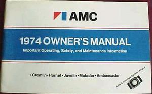 1974 AMC Owner's Manual
