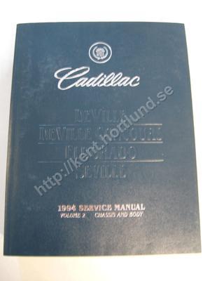 1994 Cadillac Deville, deville concourse, eldorado & seville Service manual