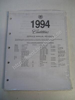 1994 Cadillac Eldorado & seville Service manual revision 1