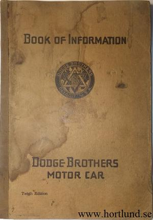 1918 Dodge Book of Information
