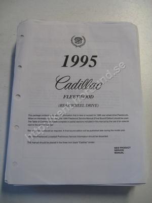 1995 Cadillac Fleetwood New product information manual